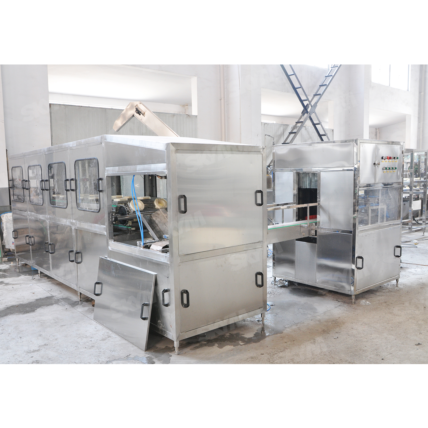 3000BPH 3-5 Gallon Barrel Water Production Line