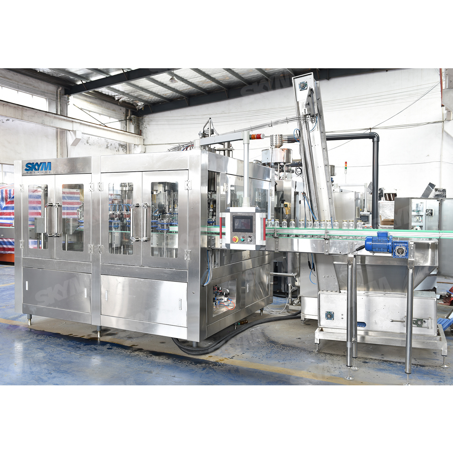 8000BPH Fruit Juice Hot Drink Filling Machine