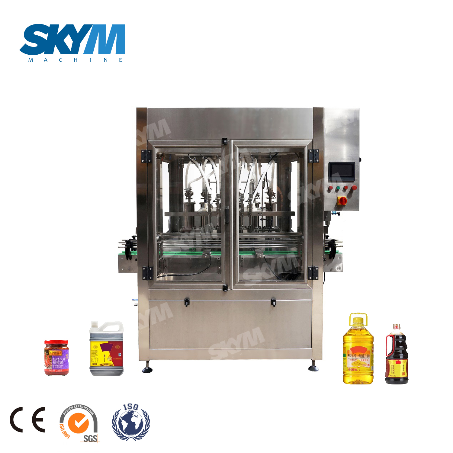 Factory Price Fully Automatic Bottle Condiment Filling Machine Line
