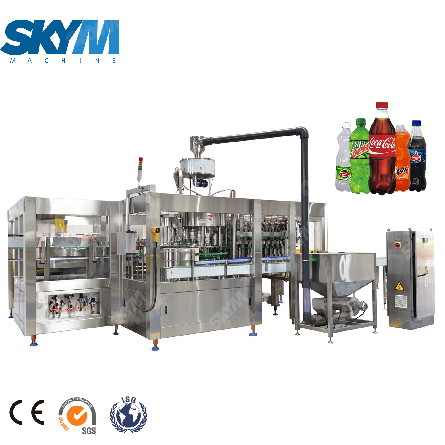 High Capacity 15000BPH Bottle Filling Machine For Soft Drinks