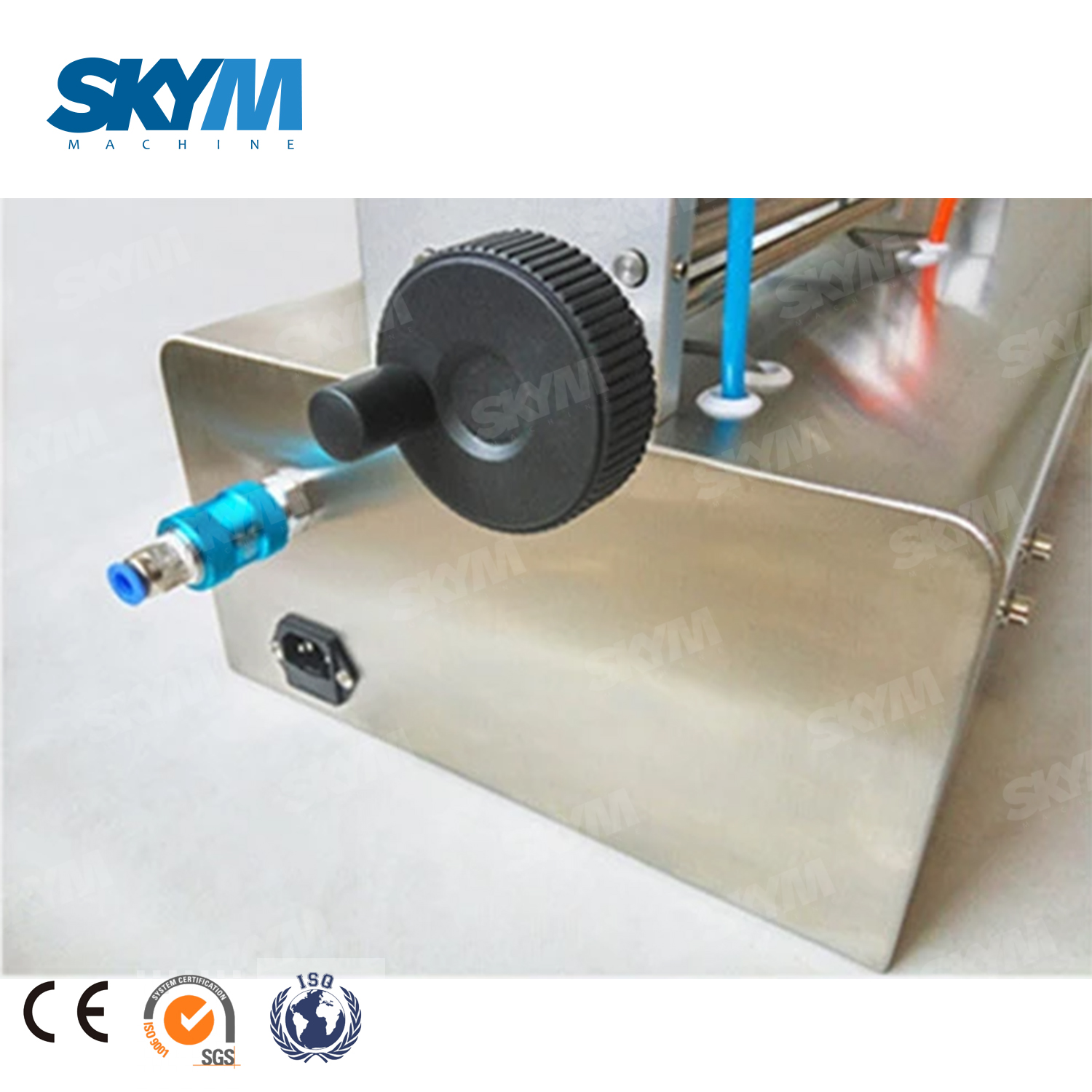 Semi-Auto Pump Vinegar Beverage Milk Bottle Pneumatic Filling Machine