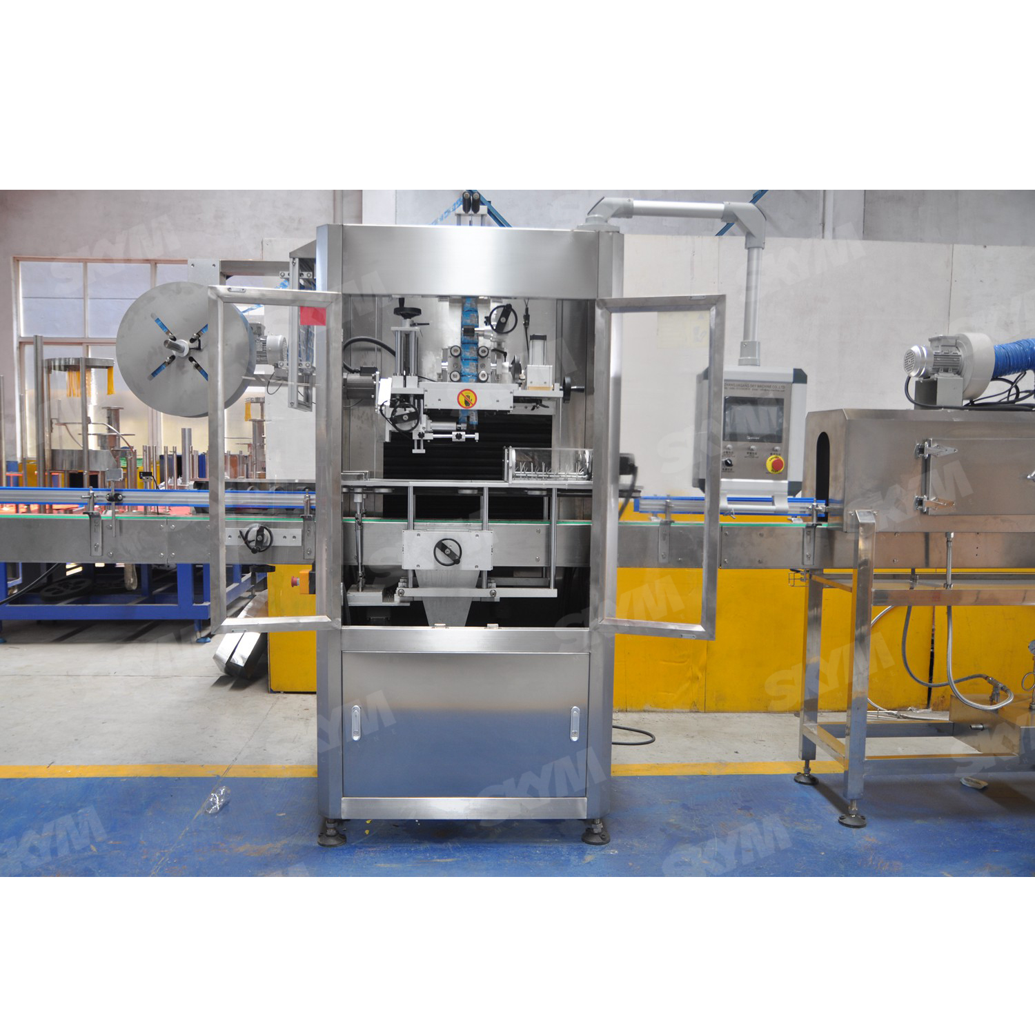 High Speed Heating Tunnel Shrink Sleeve Labeling Machine
