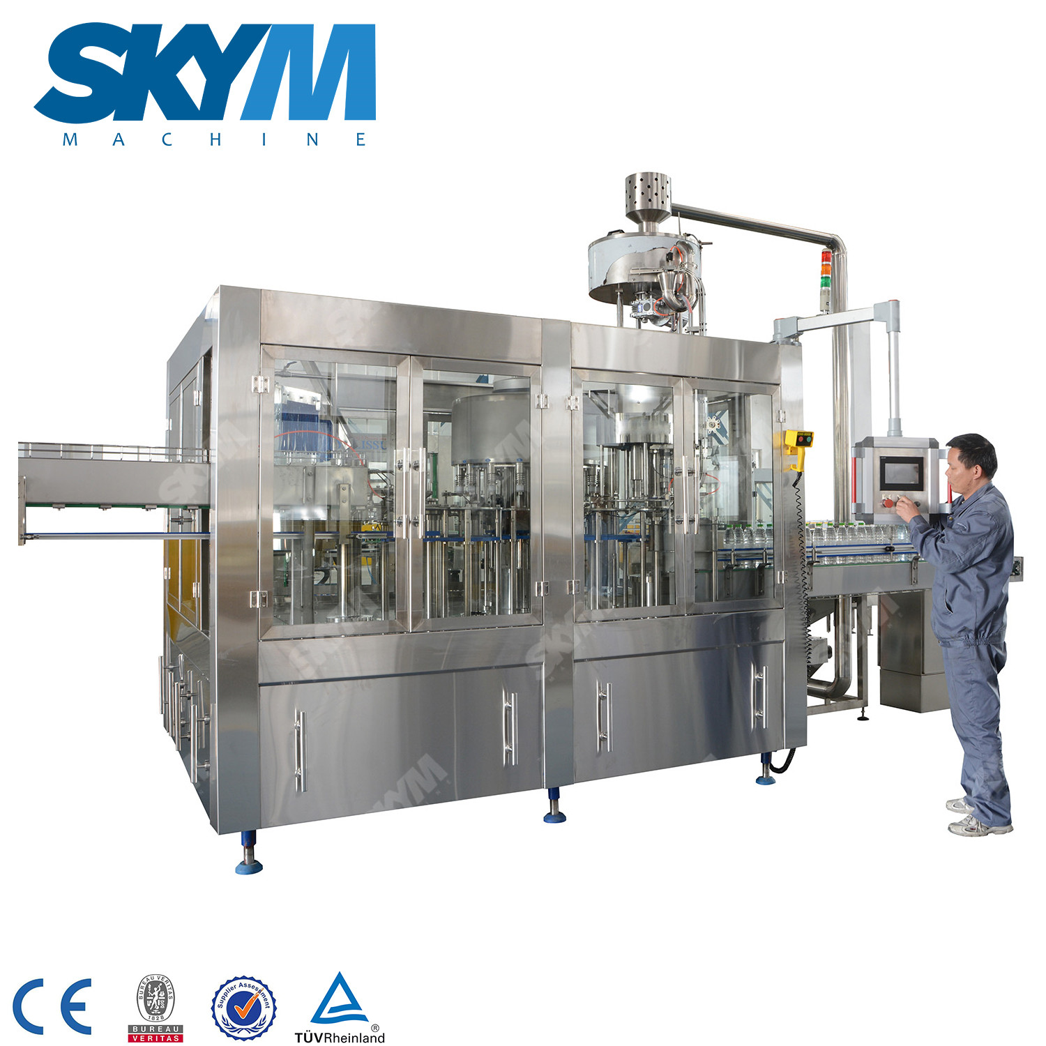 6000BPH Industrial Plastic bottle Water Filling Machine