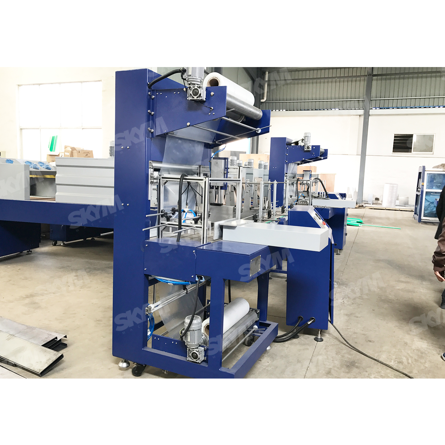 Colorful PE Film Cola Bottle Shrink Wrapping Machine
