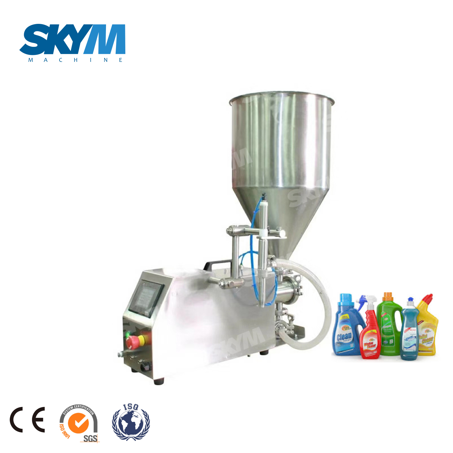 Semi Auto PET Bottle Paste Cosmetic Cream Filler Equipment