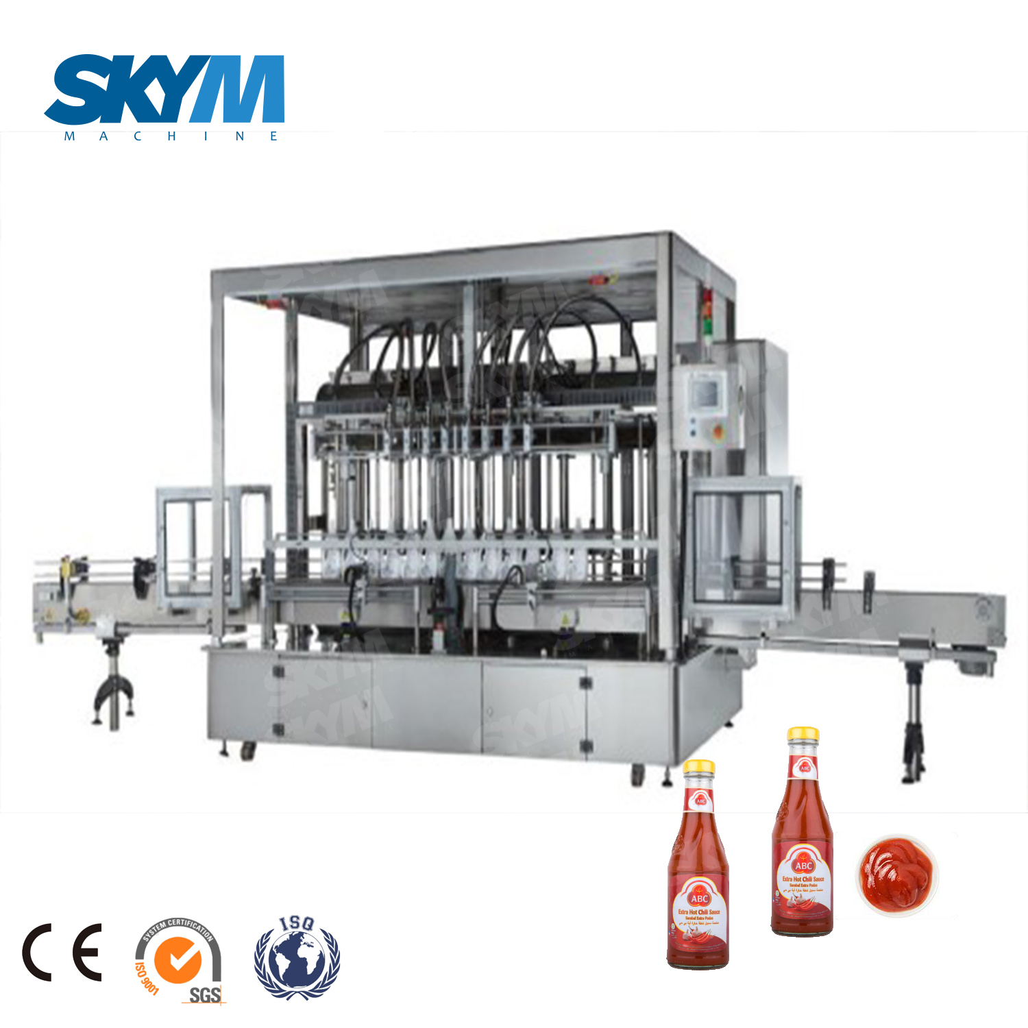 Industrial Piston Type Sauce Condiment Filling Machine